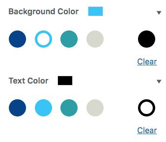 Gutenberg custom color palette example