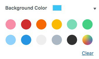 Default color palette