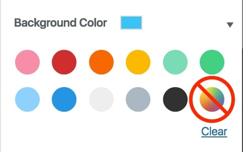 Gutenberg disable custom color wheel
