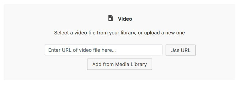 Gutenberg video block add URL